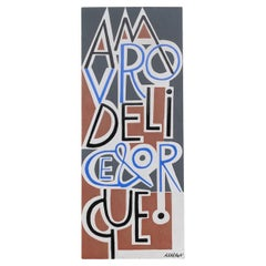 Amour, Délice, Orgue by Roger Capron, Glazed Ceramic Wall Plaque, Vallauris