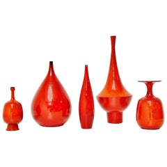 Amphora Rogier Vandeweghe Ceramic Vases Set, Belgium, 1960