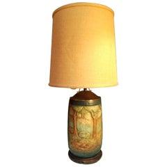Amphora Scenic Arts & Crafts Era Ceramic Table Lamp