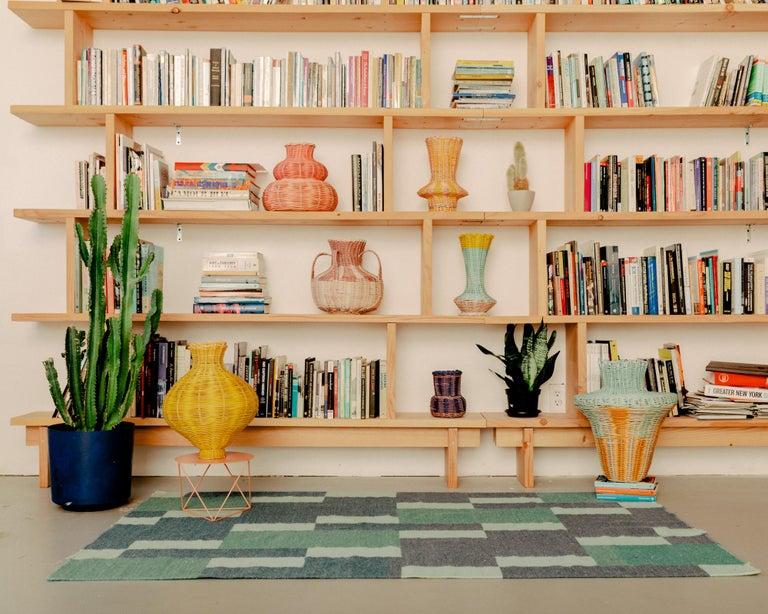 American Amphora Vase Woven in Lemon by Studio Herron For Sale