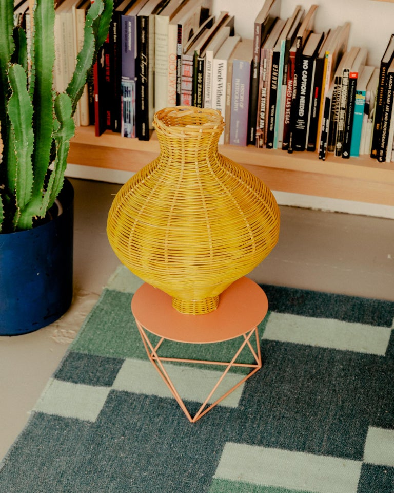 Amphora Vase Woven in Lemon by Studio Herron In New Condition For Sale In Chicago, IL