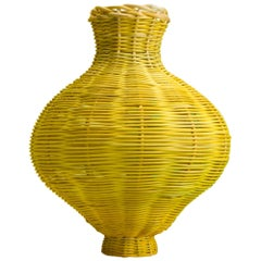 Amphora Vase Woven in Lemon by Studio Herron