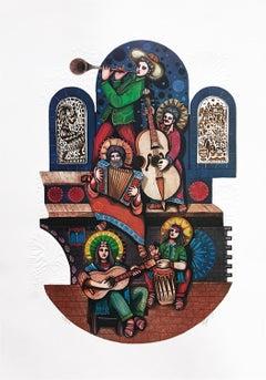 FIVE MUSICIANS (JUDAICA ART)