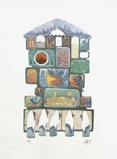 TAFILAH AT THE WALL (JUDAICA ART)