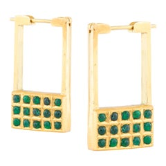 Amrapali Jewels 18 Karat Gold and Emerald Earrings