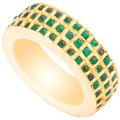 Amrapali Jewels 18 Karat Gold and Emerald Ring