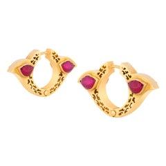 Amrapali Jewels 18 Karat Gold, Ruby Earrings