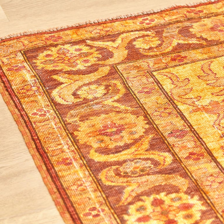 Amritsar Afghanistan Large Rug Washed, Wool Hand Knotted, circa 2000 For Sale 6