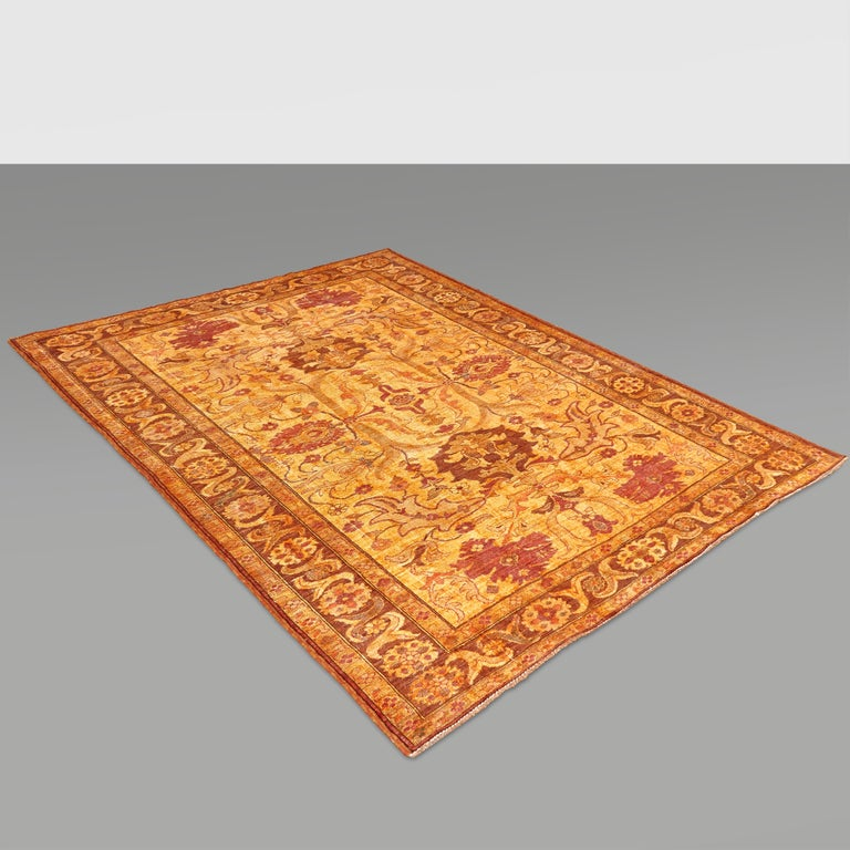Amritsar Afghanistan Large Rug Washed, Wool Hand Knotted, circa 2000 For Sale 13