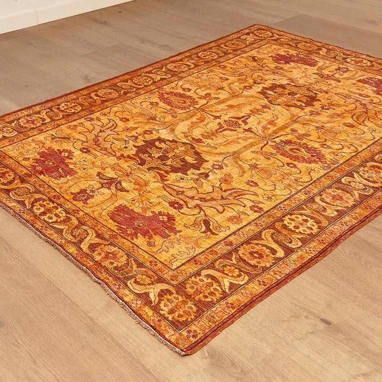Islamic Amritsar Afghanistan Large Rug Washed, Wool Hand Knotted, circa 2000 For Sale