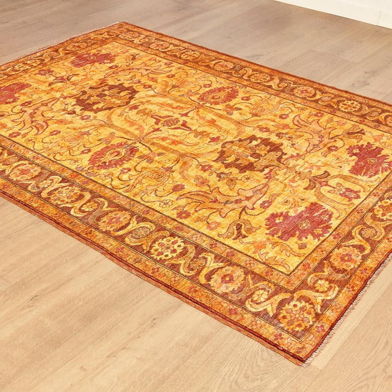 Hand-Knotted Amritsar Afghanistan Large Rug Washed, Wool Hand Knotted, circa 2000 For Sale