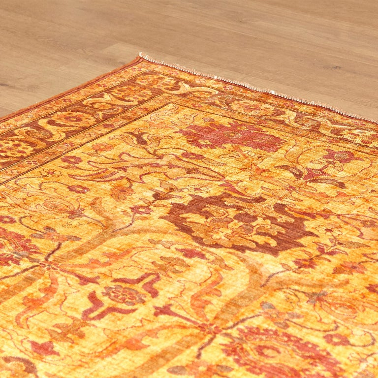 Amritsar Afghanistan Large Rug Washed, Wool Hand Knotted, circa 2000 In Good Condition For Sale In Barcelona, Barcelona