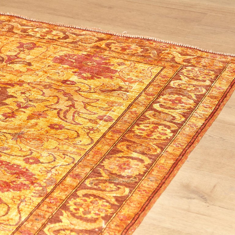Contemporary Amritsar Afghanistan Large Rug Washed, Wool Hand Knotted, circa 2000 For Sale