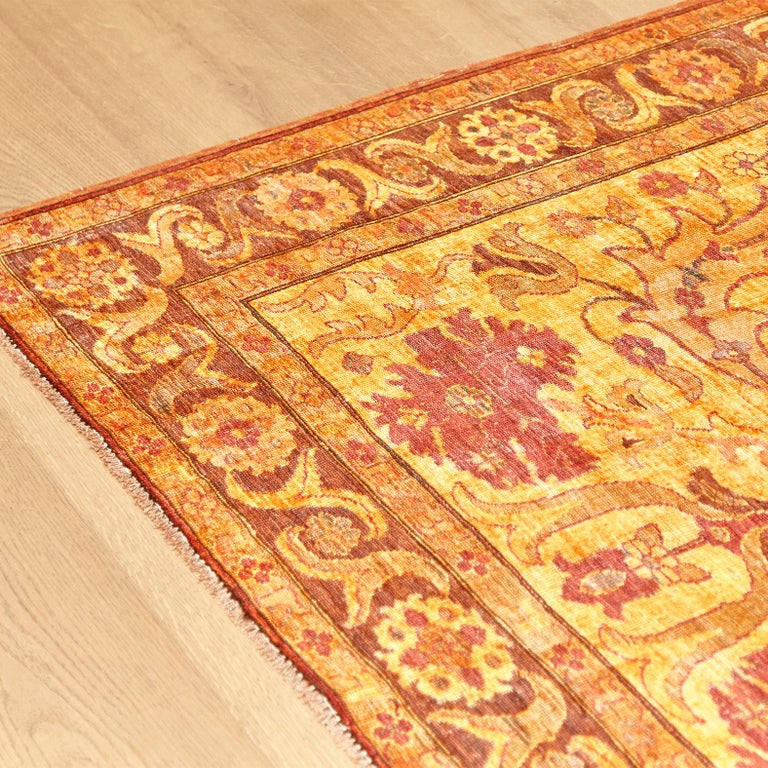 Amritsar Afghanistan Large Rug Washed, Wool Hand Knotted, circa 2000 For Sale 1