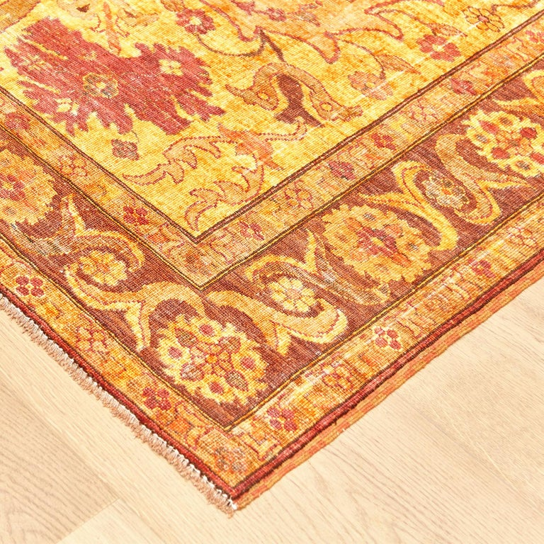 Amritsar Afghanistan Large Rug Washed, Wool Hand Knotted, circa 2000 For Sale 2