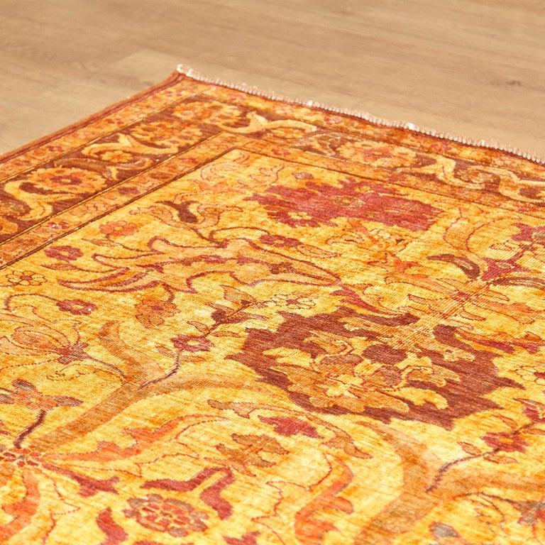 Amritsar Afghanistan Large Rug Washed, Wool Hand Knotted, circa 2000 For Sale 3