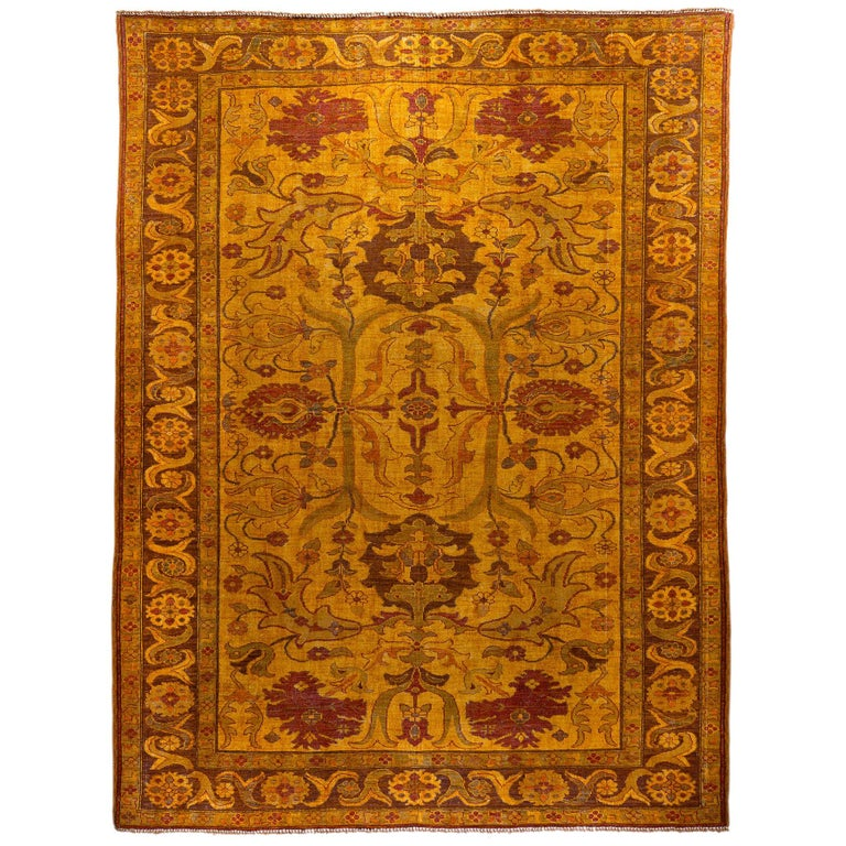 Amritsar Afghanistan Large Rug Washed, Wool Hand Knotted, circa 2000 For Sale