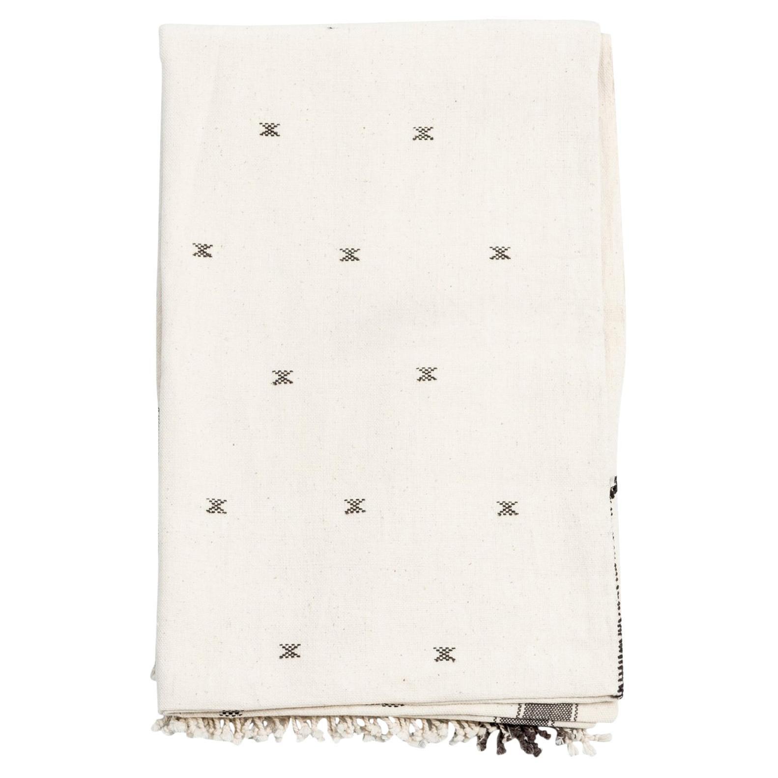 Amro Handloom Queen Size Bedpsread Coverlet Black & White, in Organic Cotton