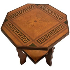 Amsterdam School Art Deco Oak and Rosewood Side Table