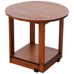 Amsterdam School Oak Side Table
