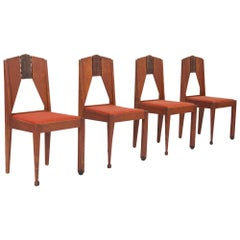 Amsterdamse School Dining Chairs in Skin Velvet