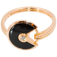 Amulette de Cartier 18 Karat Rose Gold Diamond Ring