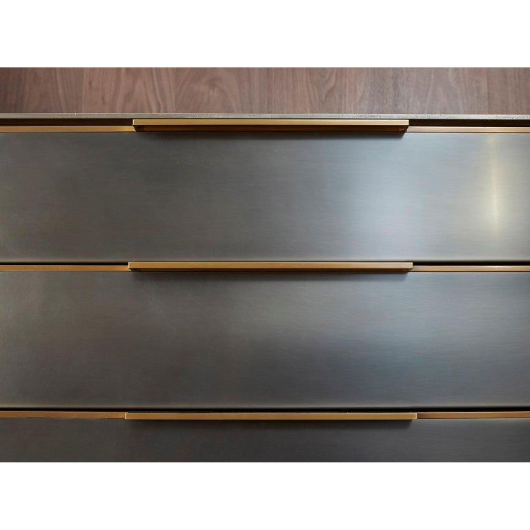 Contemporary Amuneal's Blackened Stainless Steel Bar For Sale