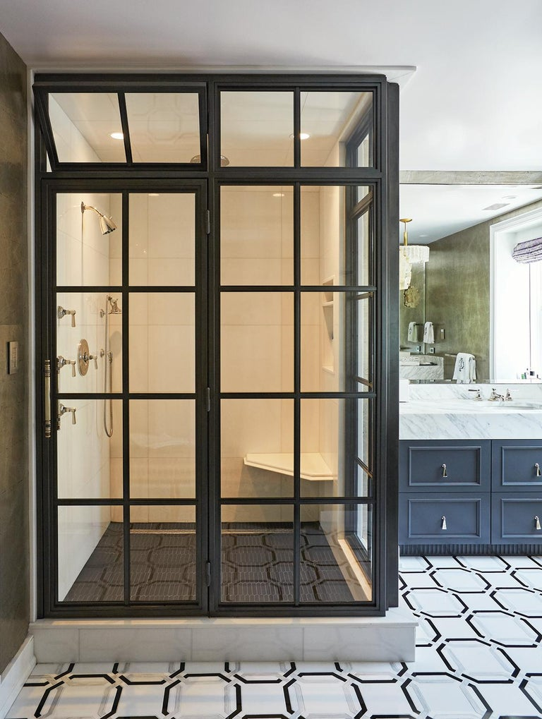 Industrial Amuneal's Frankford Steel and Glass Shower For Sale