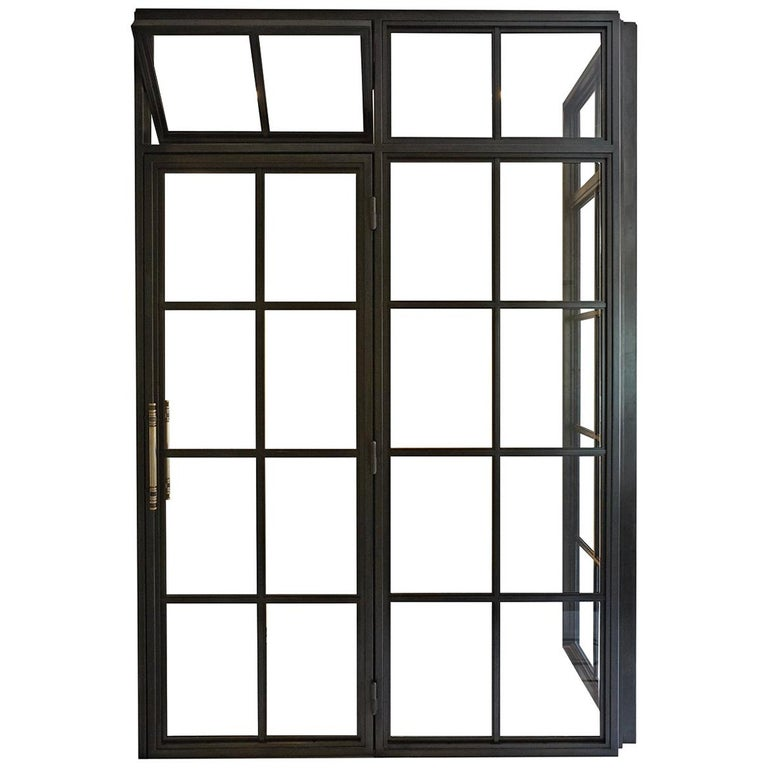 Amuneal's Frankford Steel and Glass Shower For Sale