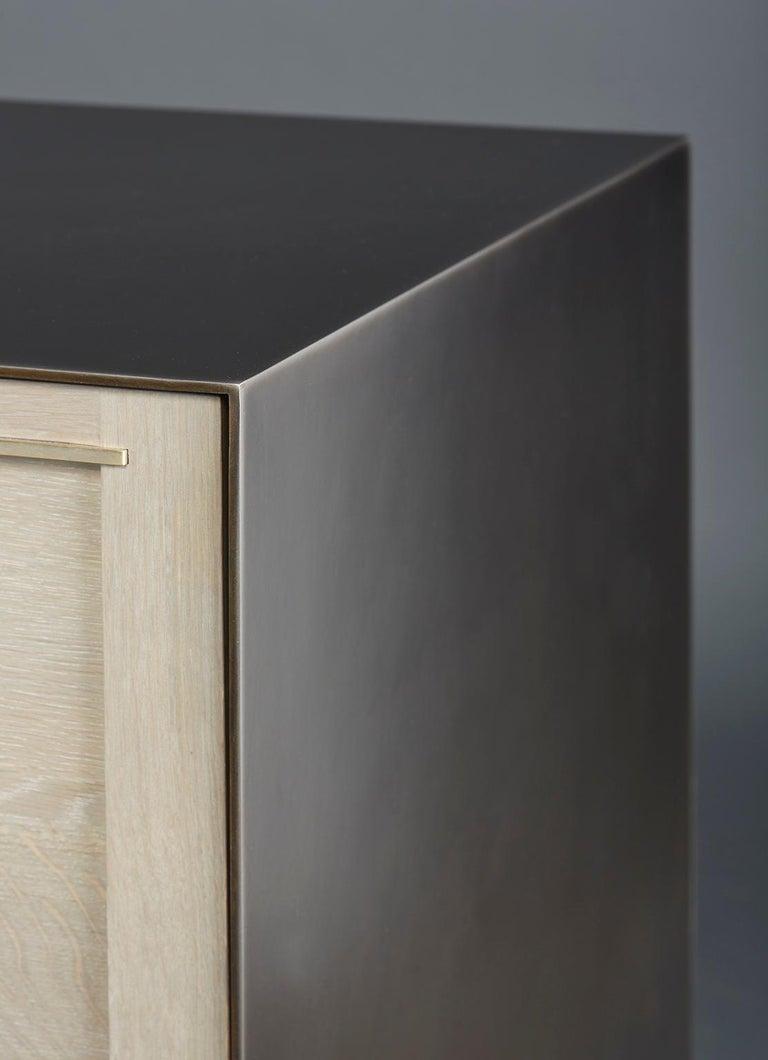 Blackened Amuneal's Metal Clad Maker Sideboard For Sale