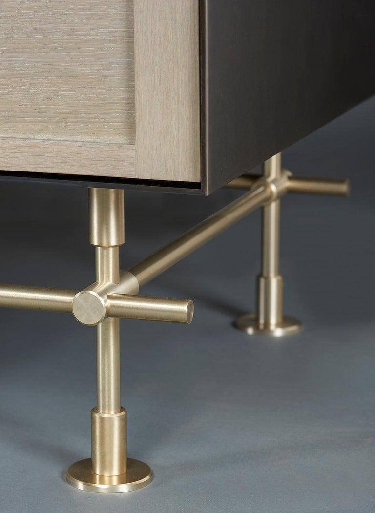 Brass Amuneal's Metal Clad Maker Sideboard For Sale