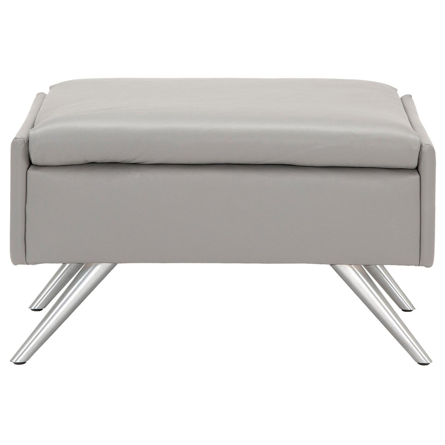 Astonishing Amura Al Pouf In Light Gray Leather By Luca Scacchetti Squirreltailoven Fun Painted Chair Ideas Images Squirreltailovenorg