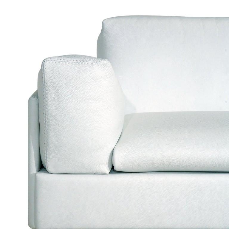 Amura 'AL' Sofa in Ivory Leather by Luca Scacchetti 2