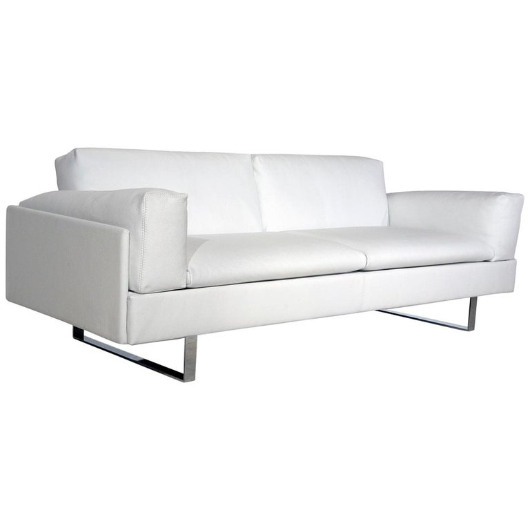 Amura 'AL' Sofa in Ivory Leather by Luca Scacchetti For Sale