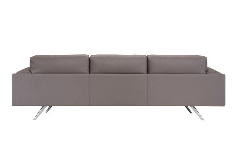 Amura 'AL' Sofa in Taupe Leather by Luca Scacchetti 2