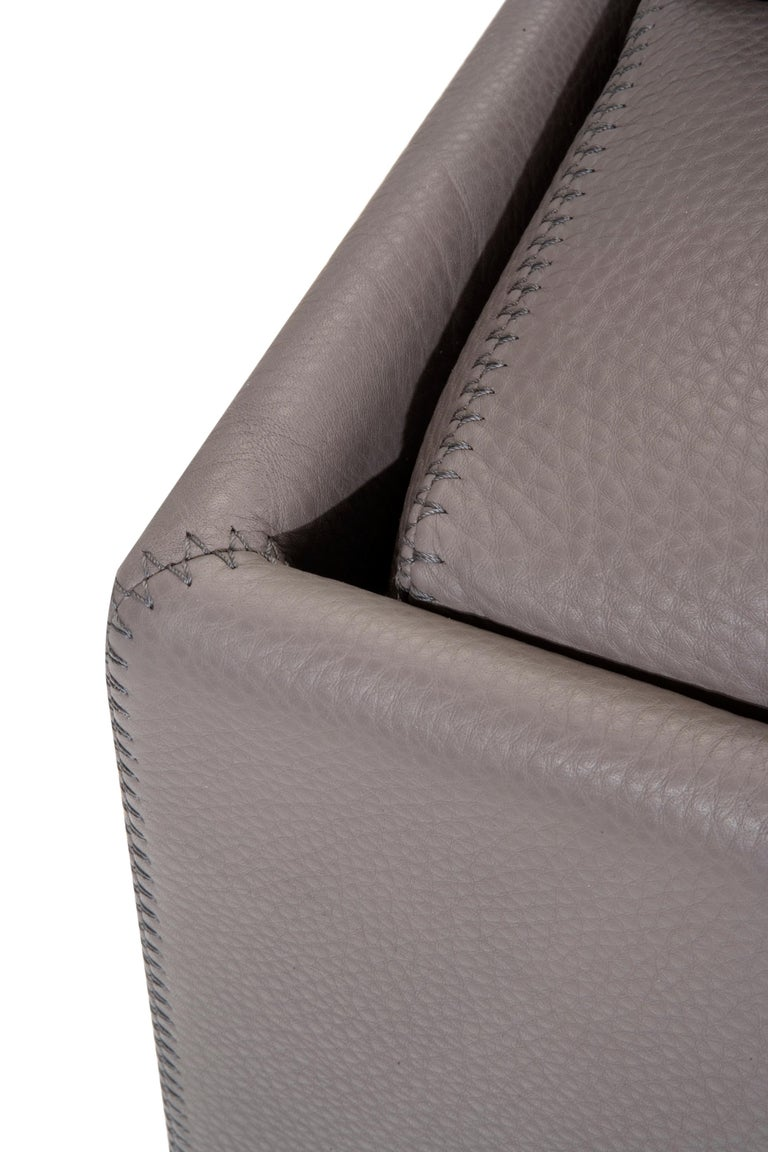 Amura 'AL' Sofa in Taupe Leather by Luca Scacchetti 4