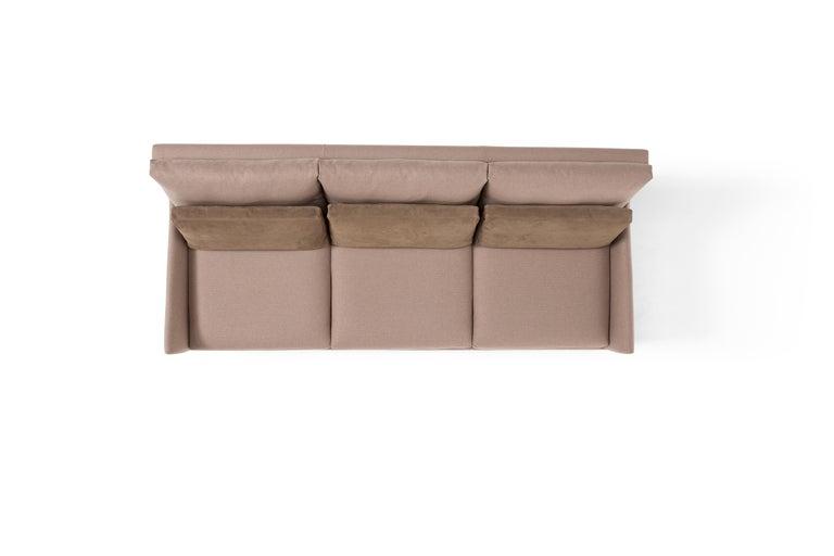 Modern Amura 'Alice' Sofa in Tan by Luca Scacchetti For Sale