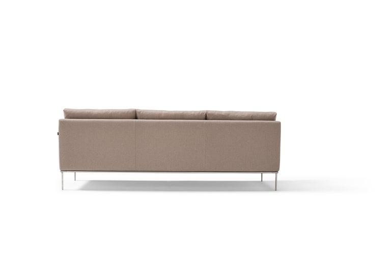 Italian Amura 'Alice' Sofa in Tan by Luca Scacchetti For Sale