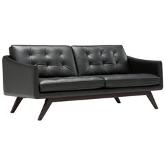 Amura 'Alvar' Sofa in Black by Luca Scacchetti