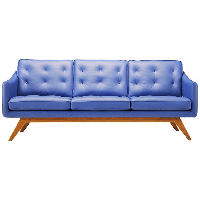 Amura 'Alvar' Sofa in Bright Blue by Luca Scacchetti For Sale