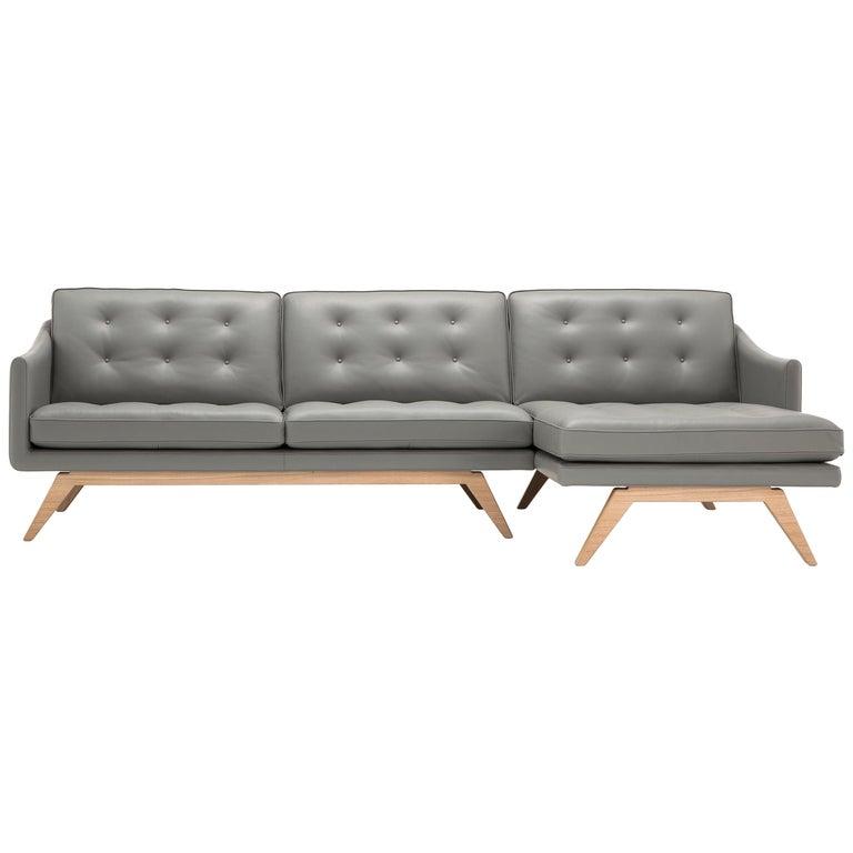 Amura 'Alvar' Sofa in Gray by Luca Scacchetti For Sale