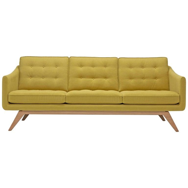 Amura 'Alvar' Sofa in Mustard Yellow by Luca Scacchetti 1