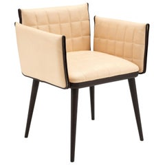 Amura Berenice Dining Chair in Wood and Leather by Amura Lab