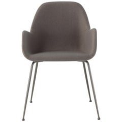 Amura Bridge Dining Chair in Fabric and Grey Ash Base by Amuralab