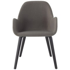 Amura Bridge Dining Chair in Fabric and Gunmetal Base by Amuralab