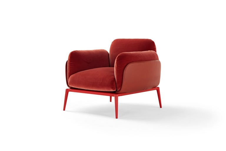 It is a hotpot of trends, springing from diverse styles, the New York neighbourhood that lends its name to the new system of modular sofas and ottomans, Brooklyn. A choice that's almost a declaration of intents: the strong personality of the