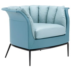 Amura 'Buttercup' Armchair in Blue by Luca Scacchetti