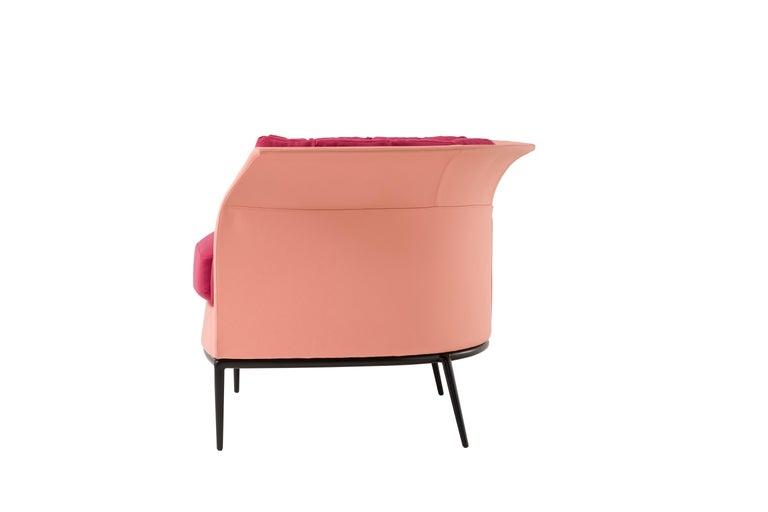 Modern Amura 'Buttercup' Armchair in Fuschia by Luca Scacchetti For Sale