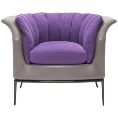 Amura 'Buttercup' Armchair in Purple and Gray by Luca Scacchetti