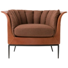 Amura 'Buttercup' Armchair in Warm Brown by Luca Scacchetti